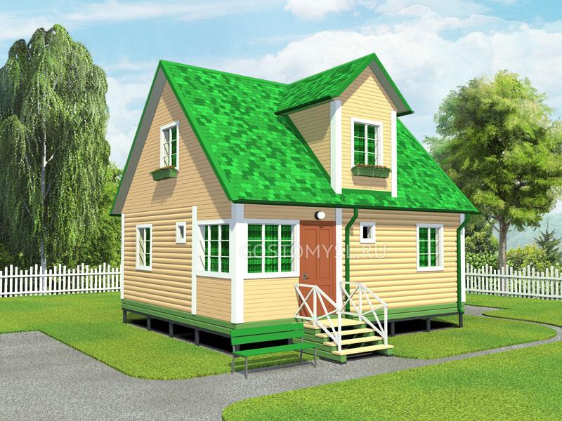 Проект дома 7х8 из бруса - №56  Дом из Бруса 7х8